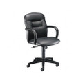 Allure Managerial Mid-Back Swivel/Tilt Chair, Black Leather