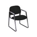 Solutions Seating Sled Base Guest Chair, Olefin, Black