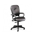 4700 Series Mobius Task Seating High-Back Swivel Chair, Black Leather
