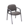 Solutions Seating Leg Base Guest Arm Chair, Olefin, Gray