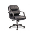 Leather 2090 Pillow-Soft Series Managerial Mid-Back Swivel/Tilt Chair, Black