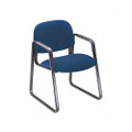 Solutions Seating Sled Base Guest Chair, Olefin, Blue