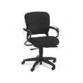 4700 Series Mobius Task Seating Mid-Back Swivel Chair, Black Olefin Fabric