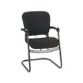 4700 Series Mobius Guest Chair, Cantilever Base, Black Olefin Fabric