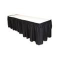 Table Set Linen-Like Table Skirting, Black, 29 x 14 ft.