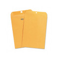 Kraft Clasp Envelopes, 28lb, 7-1/2x10-1/2, 100/box