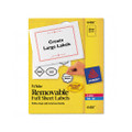 Self-Adhesive Removable Laser I.D. Labels, 8-1/2 x 11, White, 25 per Pack