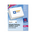 Laser Labels for Color Printing, 1-1/4 x 3-3/4, White, 300/Pack