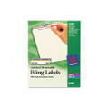 Removable Ink Jet/Laser File Folder Labels, Assorted Colors, 750/Pack