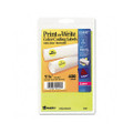 Self-Adhesive Removable Labels, 1.25in dia, Yellow Neon, 400/Pack
