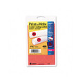 Print/Write Self-Adhesive Removable Labels, 1-1/4 dia, Red Neon, 400/Pack