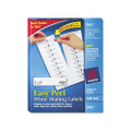 White Ink Jet Mailing Labels, 1 x 4, 2000/Box