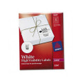 Round Specialty Laser Printer Labels, 2-1/2in dia, White, 300/Pack