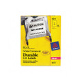 Permanent I.D. Labels for Laser Printers, 8-1/2 x 11, White, 50/Pack