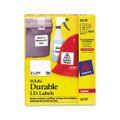 Permanent I.D. Labels for Laser Printers, 2 x 2-5/8, White, 750/Pack