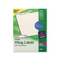 Self-Adhesive Laser/Ink Jet File Folder Labels, Purple Border, 750/Pack
