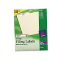 Permanent Adhesive Laser/Ink Jet File Folder Labels, Orange Border, 750/Pk