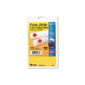 Self-Adhesive Removable Labels, 1.25in dia, Orange Neon, 400/Pack