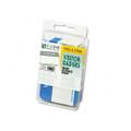Self-Adhesive Visitor Name Badges, White/Blue, 3-1/2 x 2-1/4, 100/box