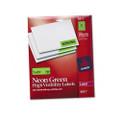 Neon Laser Labels, 1 x 2-5/8, Fluorescent Green, 750/Pack