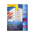 Laser Address Labels w/Smooth Feed Sheets, 1 x 2-5/8, White, 750/Pack
