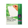 Removable Ink Jet/Laser File Folder Labels, White, 750/Pack