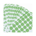 Permanent Self-Adhesive Labels, 3/4D Dia. Green, 1008 per Pack