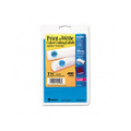 Self-Adhesive Removable Labels, 1.25in dia, Light Blue, 400/Pack