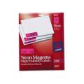 Neon Laser Labels, 1 x 2-5/8, Fluorescent Magenta, 750/Pack