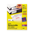 Self-Adhesive Removable Laser I.D. Labels, 1 x 2-5/8, White, 750 per Pack