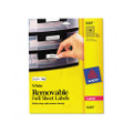 Self-Adhesive Removable Laser I.D. Labels, 1/2 x 1-3/4, WE, 2000 per Pack