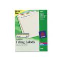 Permanent Adhesive Laser/Ink Jet File Folder Labels, Assorted, 750/Pack