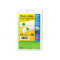 Self-Adhesive Removable Labels, 1.25in dia, Green Neon, 400/Pack