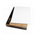 CFC-Free Polystyrene Foam Board, 40 x 30, White Surface and Core, 25 per Carton