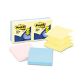 Pop-Up Refills, 3 x 3, Three Pastel Colors, Six 100-Sheet Pads/pack
