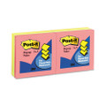 Pop-Up Note Refill, 3 x 3, Five Neon Colors, Six 100-Sheet Pads/pack