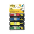 Post-it Small Flags in Dispensers, Four Colors, 35 per Color, 4 Dispensers/Pack