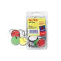 Metal Rim Key Tags, Card Stock/Metal, Green/Red/Yellow/White, 50 per Pack
