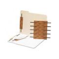 """Reinforced Self-Adhesive Steel Paper Fasteners, 2"""" Capacity, Brown, 100 per Box"""