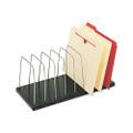 Steelmaster adjustable wire organizer, 18-3/8w x 8-1/8d x 7-3/4h, black