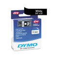 D1 Tape Cartridge for Electronic Label Makers, 3/4w, White on Black