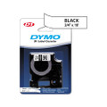 D1 Permanent Polyester Label Maker Tape, 3/4in x 18ft, Black on White