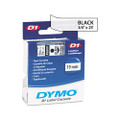 D1 Tape Cartridge for Electronic Label Makers, 3/4w, Black on Clear