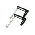 Adjustable Cubicle Hangers for 1-1/2 to 3in Panels, Alum/BLK, 2 per Set