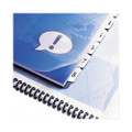 Customizable Index Tabs for Binding Systems, 8-Tab, 8-1/2 x 11, WE, 8/set