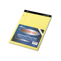 Evidence Dual Ruled Pad, Legal/Wide Rule, 8-1/2x11-3/4, Canary, 100 Sheets