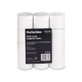 "Two-Ply Calculator Receipt Paper Rolls, 2-1/4""w, 90`l, White, 12/pk"