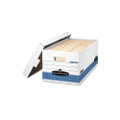 FastFold Stor/File Lift Lid Box, Ltr, 12-1/2 x 16-1/4 x 10-1/2, WE/Blue 12/Ctn