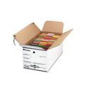 Economy File Storage, Tie Close, Letter, Fiberboard, 14 x 26 x 12, White, 12/Ct
