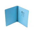 Pressboard Report Cover, Cloth-Bound Hinges, 11x8-1/2, 8-3/4 C to C, Light Blue